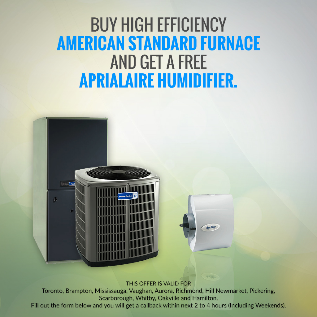 Get a FREE AprialAire Humidifier Toronto Ontario