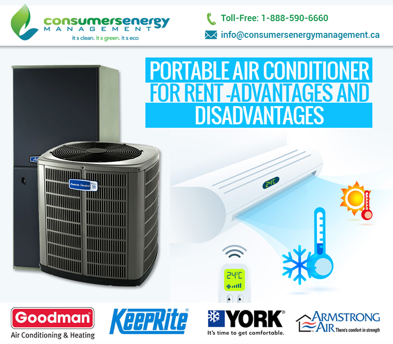 Portable air conditioner for rent – Advantages and Disadvantages